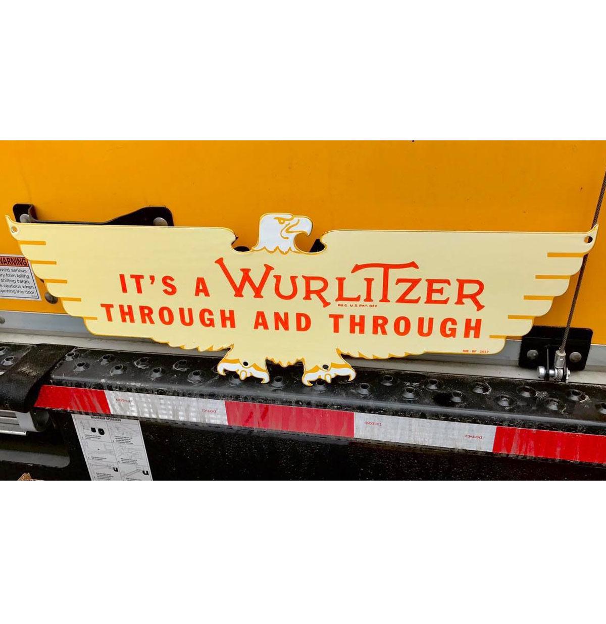 Wurlitzer Arend Logo Emaille Bord 61 x 20 cm - ZEER GELIMITEERD