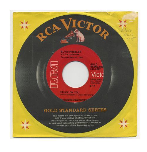 Elvis Presley 45 RPM Stuck on You Red Label