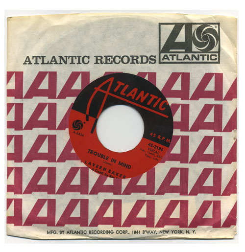 Lavern Baker 45 RPM Trouble in Mind