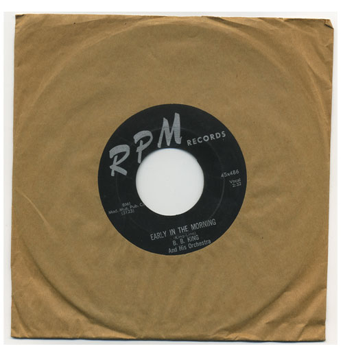 B.B. King 45 RPM Early in the Morning
