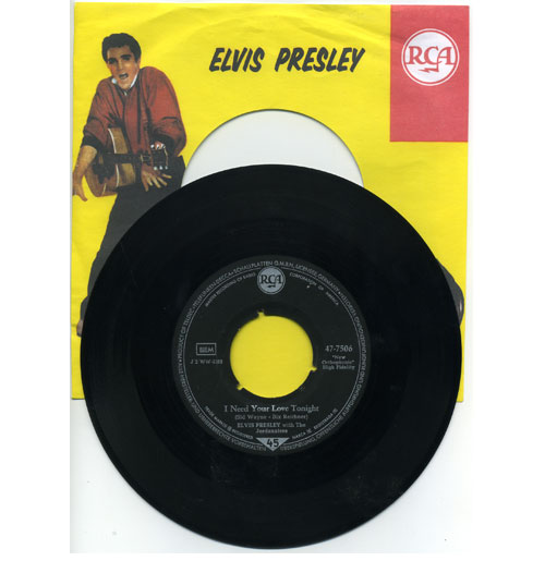 Elvis Presley 45 RPM A Fool Such as I - I Need Your Love Tonight