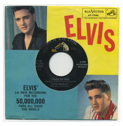 Elvis Presley 45 RPM Stuck on You