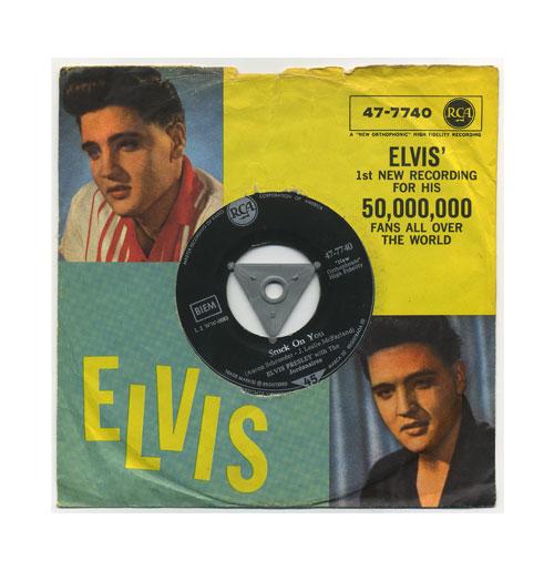 Elvis Presley 45 RPM Stuck on You German