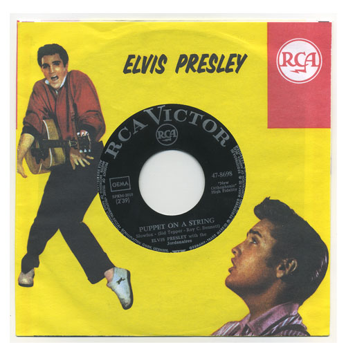 Elvis Presley 45 RPM Puppet on a String