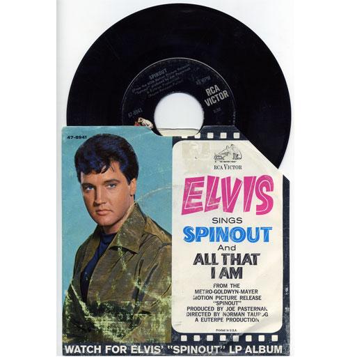 Elvis Presley 45 RPM Spinout