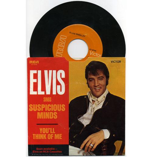 Elvis Presley 45 RPM Suspicious Minds