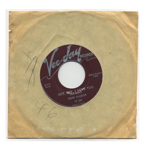 Gene Allison 45 RPM Hey Hey I Love You