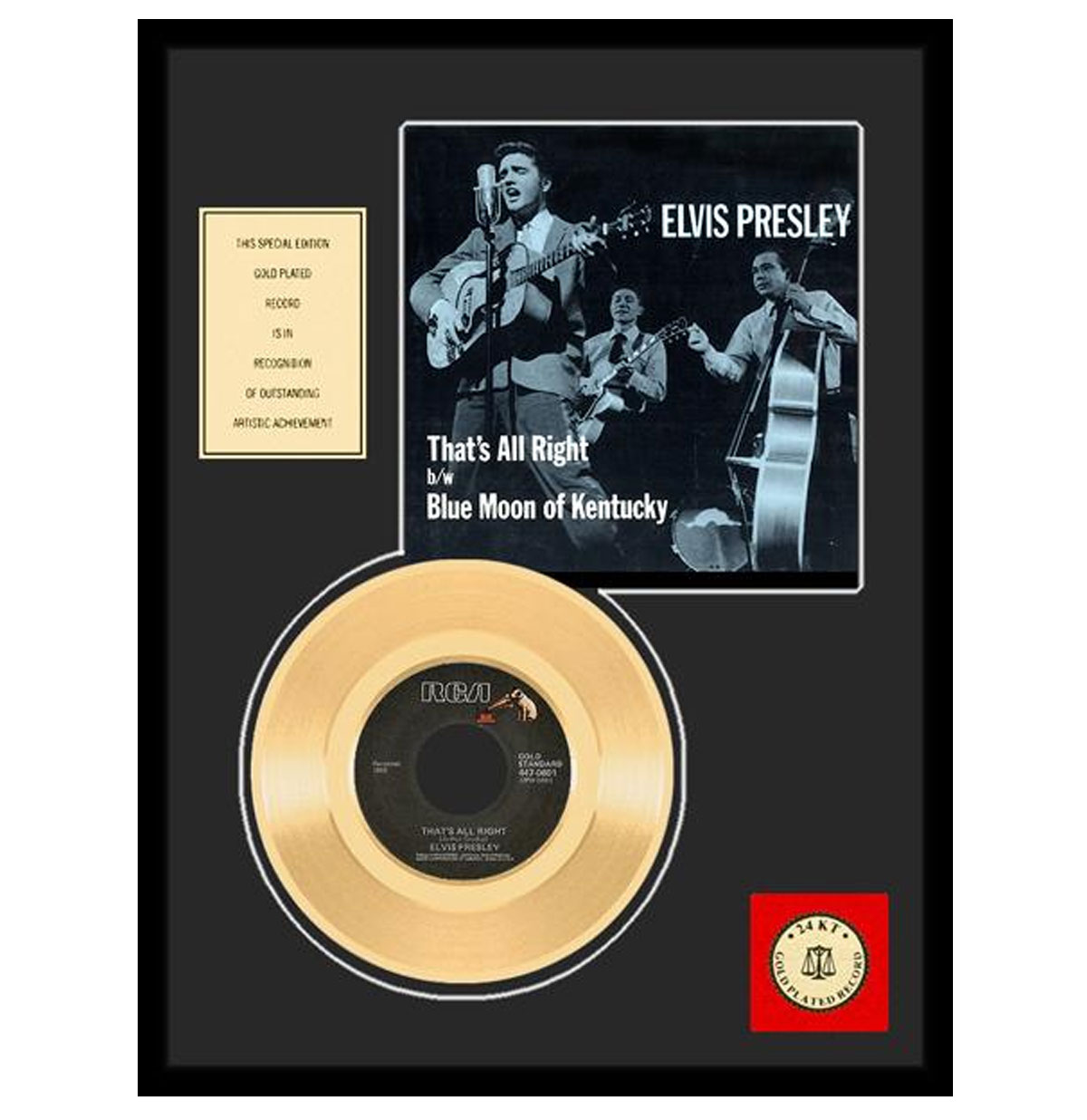 Elvis Presley - That's All Right Gouden Plaat (45RPM)