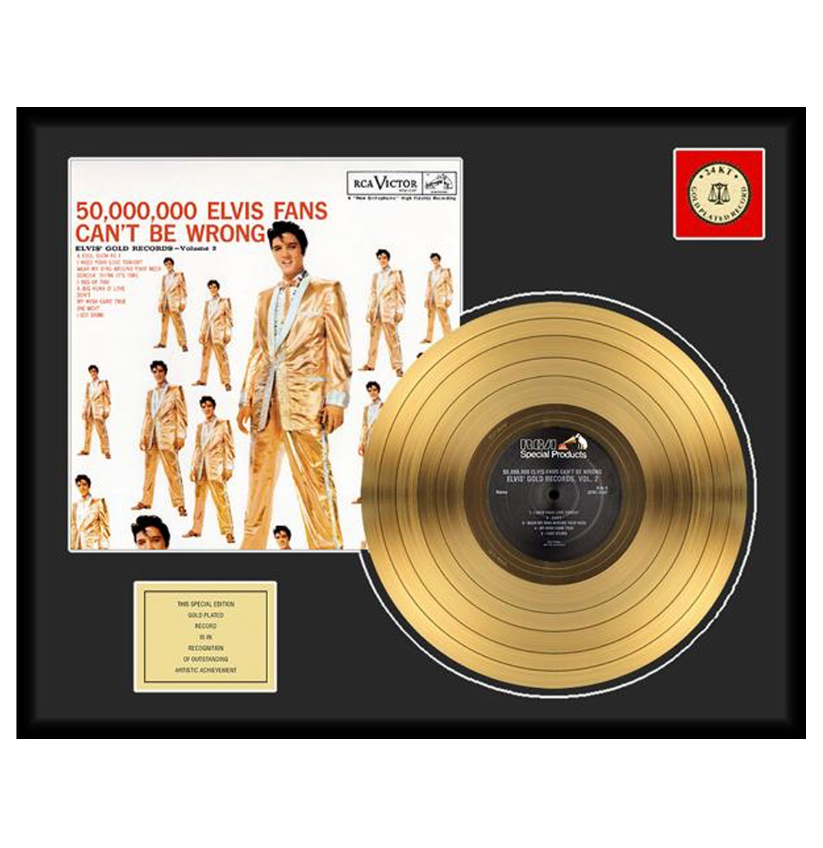 Elvis Presley - 50,000,000 Elvis Fans Can't Be Wrong 24 karaats Gouden Plaat (LP)