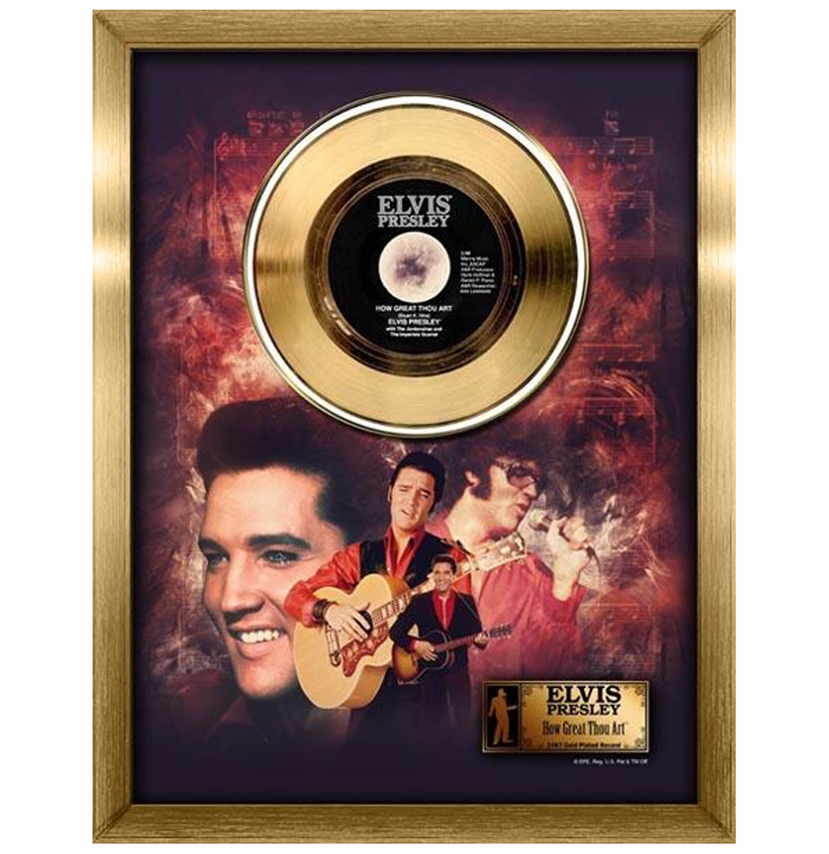 Elvis Presley - How Great Thou Art Gouden Plaat (45RPM)