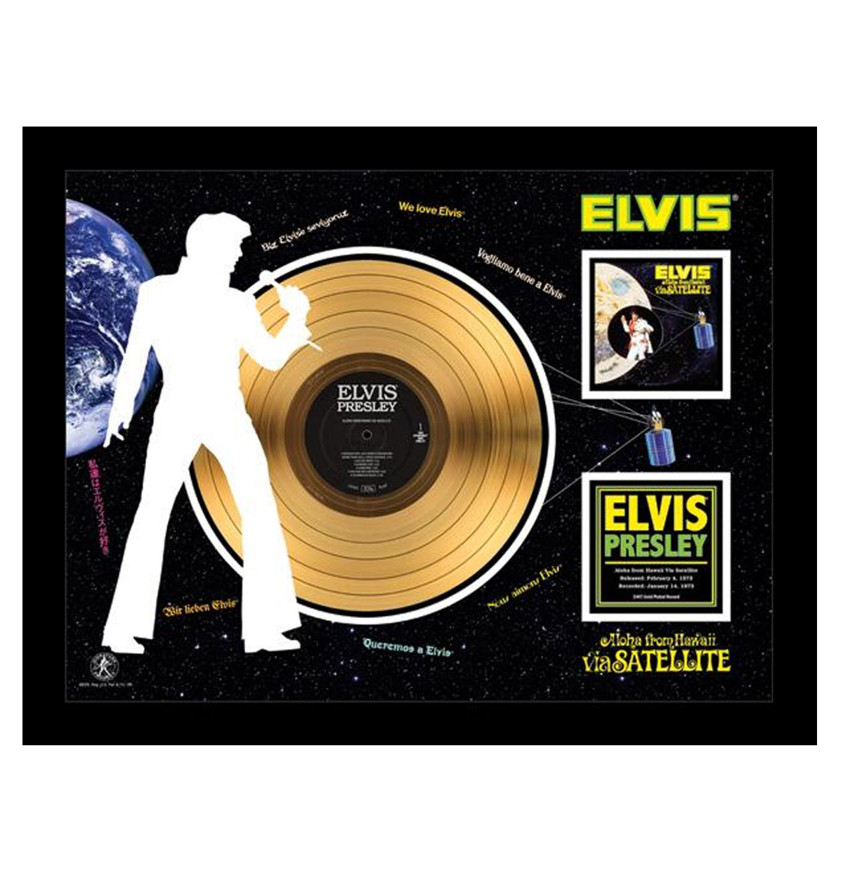 Elvis Presley Aloha From Hawaii via Satellite Gouden Plaat 24KT
