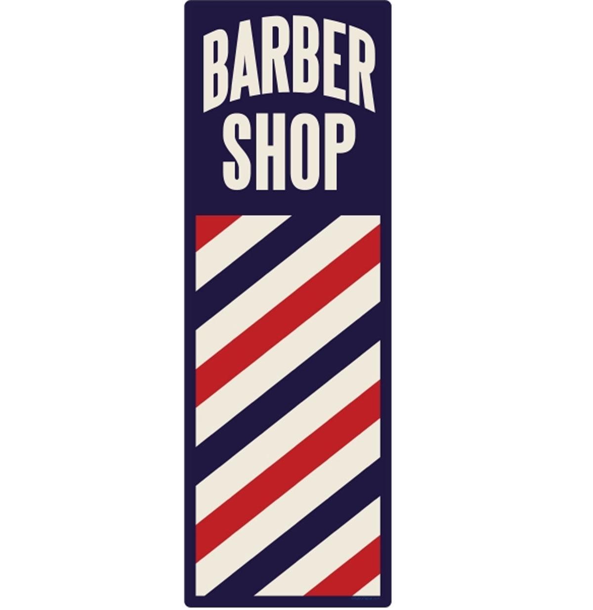 Barber Shop Zwaar Metalen Bord 50 x 13 cm