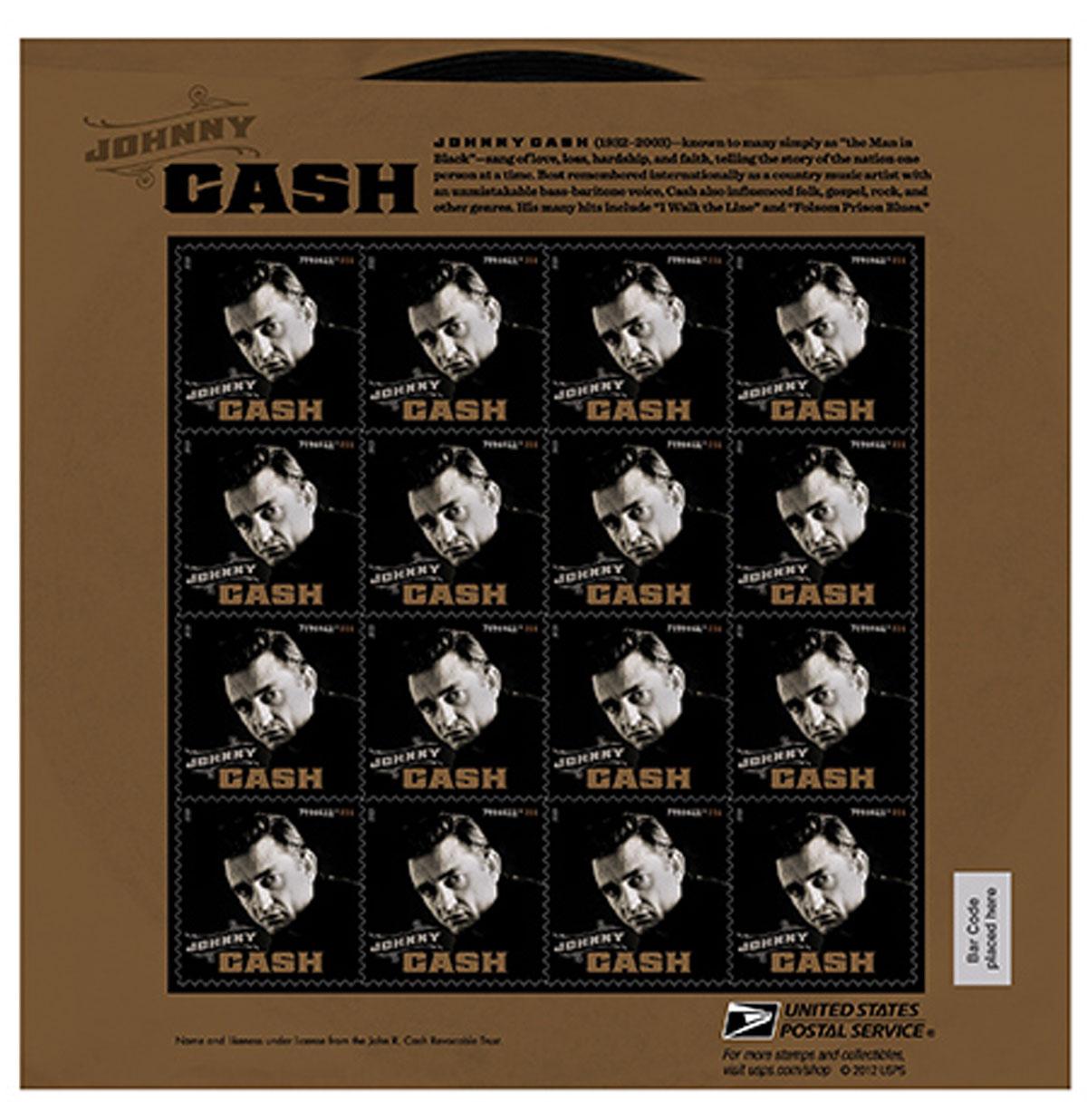 Johnny Cash Postzegelvel