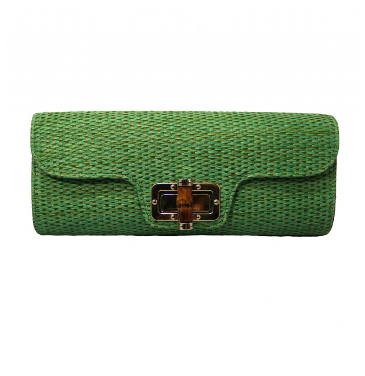 Bamboo Clutch Green