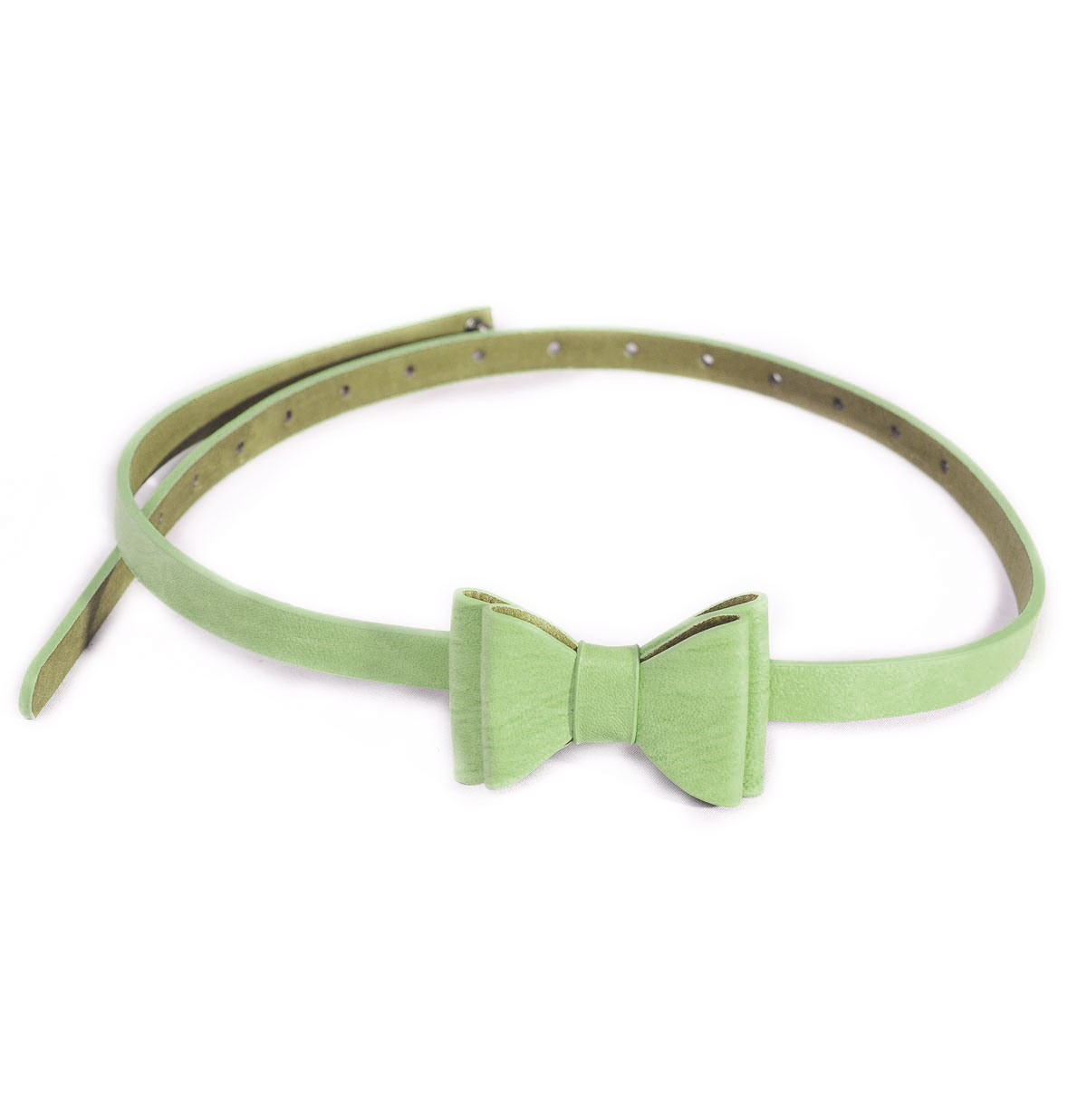Bow Belt, Lime Green