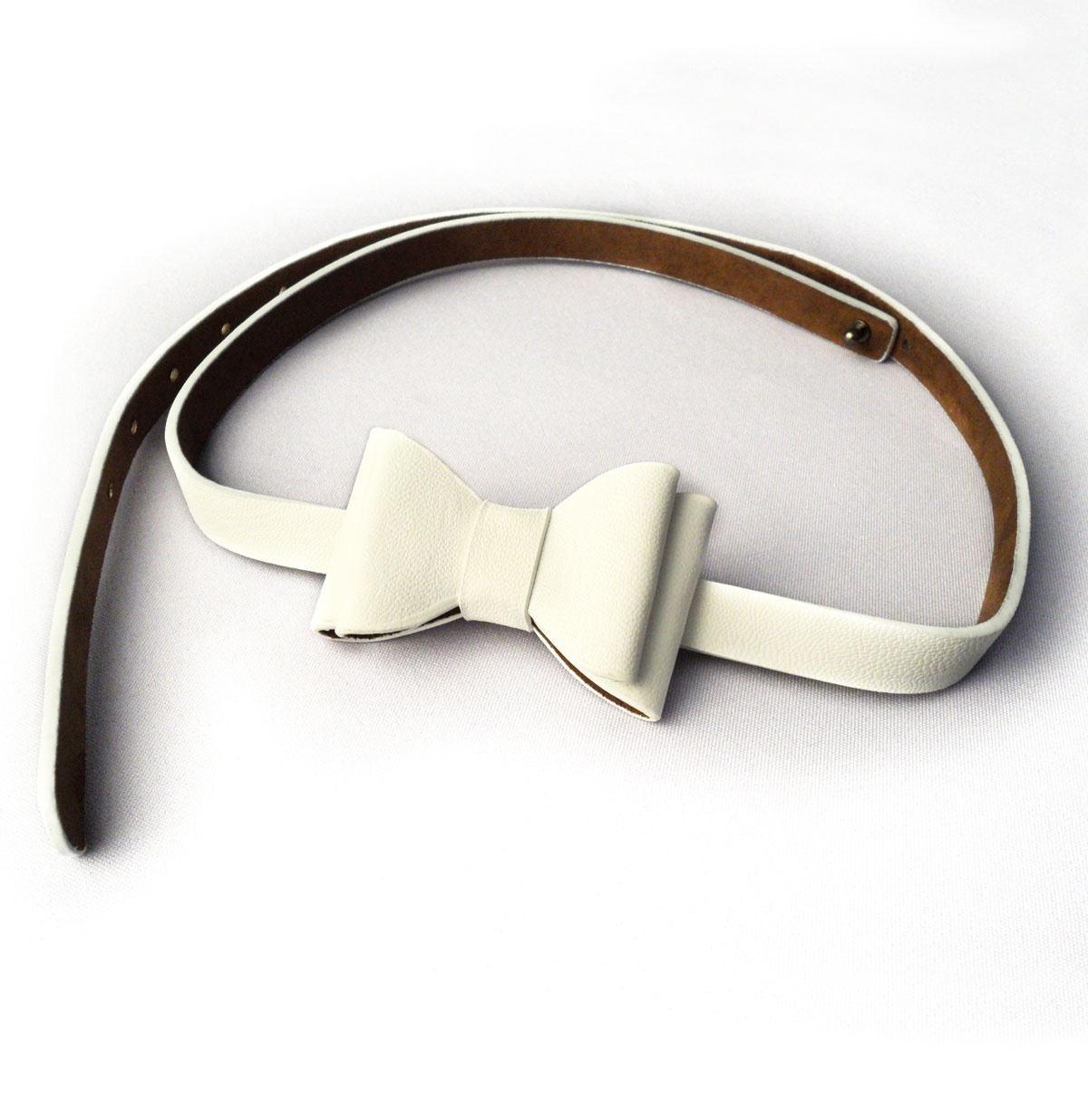 Bow Belt, White
