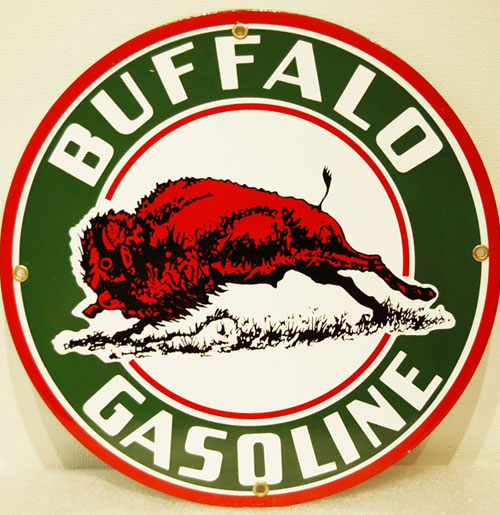 Buffalo Gas Emaille Logobord