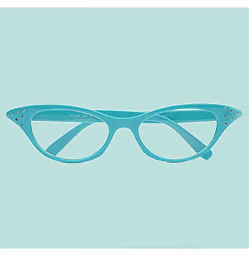 Dames Cat Eye Bril - Turquoise Transparant