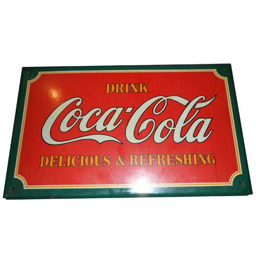 Coca-Cola Sign Emaille