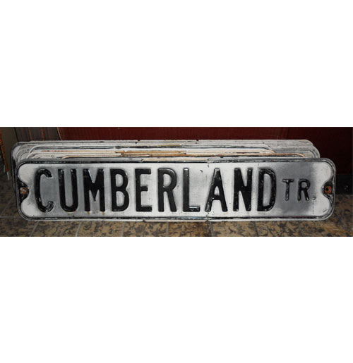 Cumberland Tr. Straatnaambord