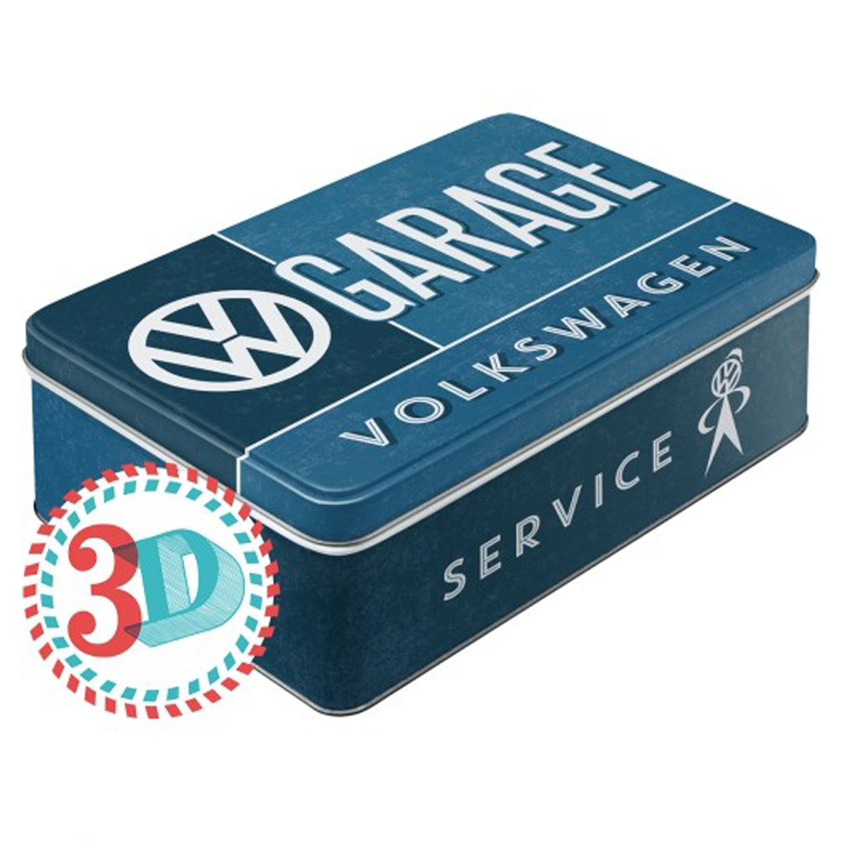 VW Volkswagen Garage Tin Box Flat
