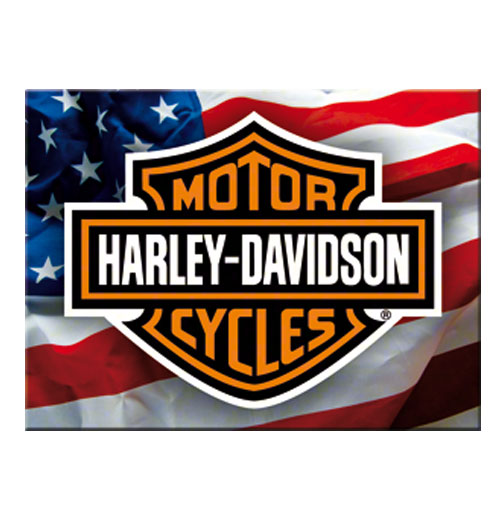 Harley Davidson Magneet USA Logo