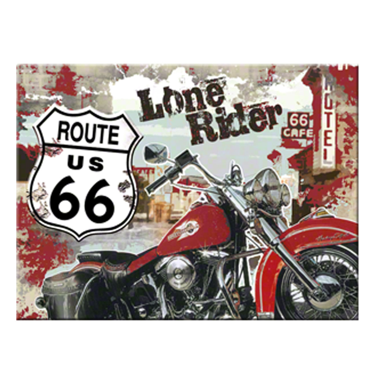 Route 66 Lone Rider Magneet