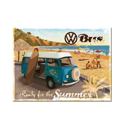 VW Volkswagen Bus Magneet Ready for Summer