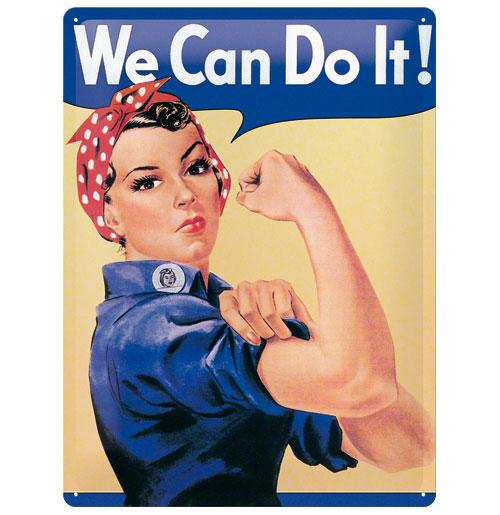 Metalen Plaat 'We Can Do It!' 30 x 40 cm