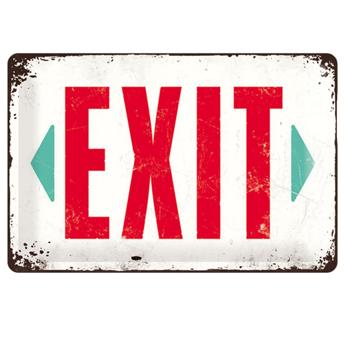 Tin Sign 'Exit' 20 x 30 cm