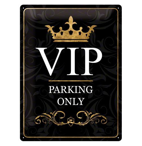 Metalen Plaat 'VIP Parking Only' 30 x 40 cm