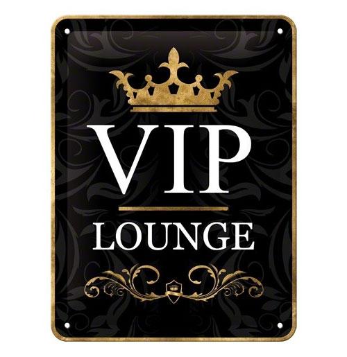 Metalen Plaat 'Vip Lounge' 15 x 20 cm