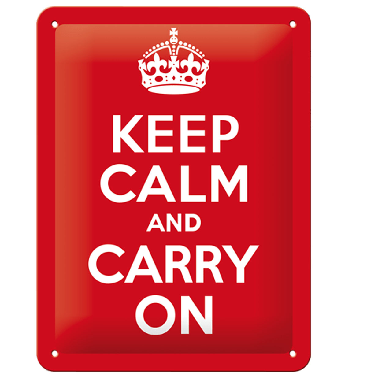 Tin Sign 'Keep Calm and Carry On' 15 x 20 cm