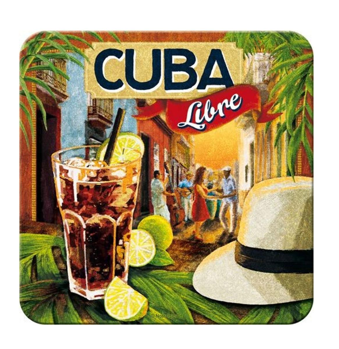 fiftiesstore Metalen Onderzetters Cuba Libre