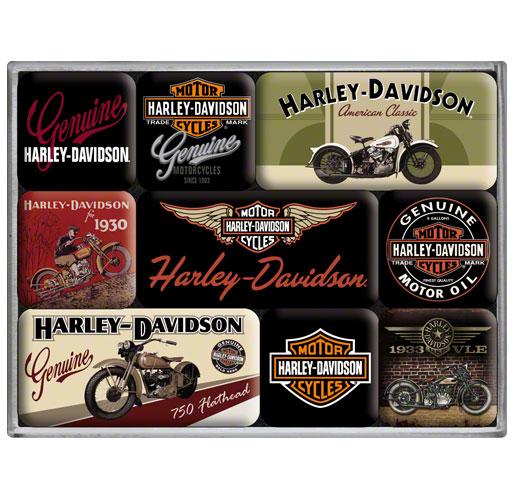 Magneet Set Harley-Davidson Bikes