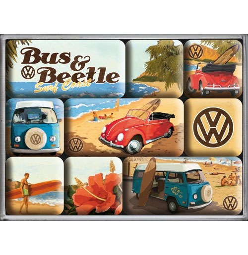 Magneet Set VW Volkswagen Bus & Beetle