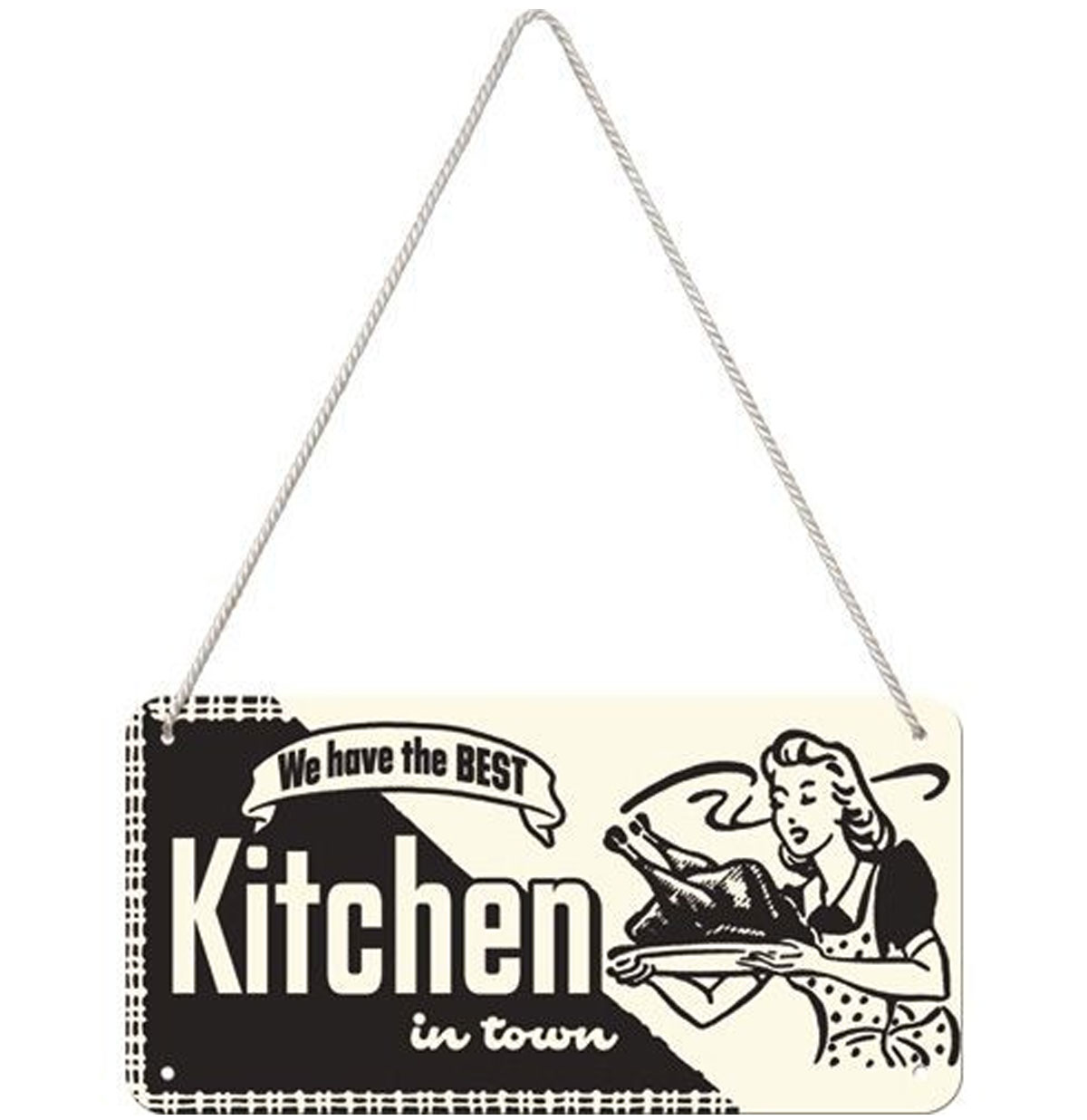 Kitchen Hangend Metalen Bord 10 x 20 cm