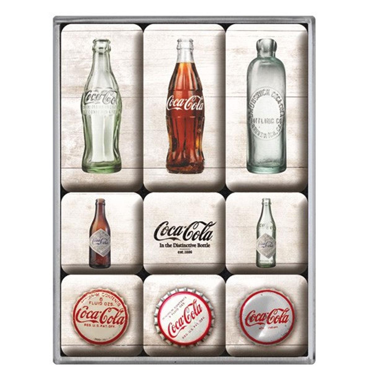 Coca-Cola Flesjes Magneet Set