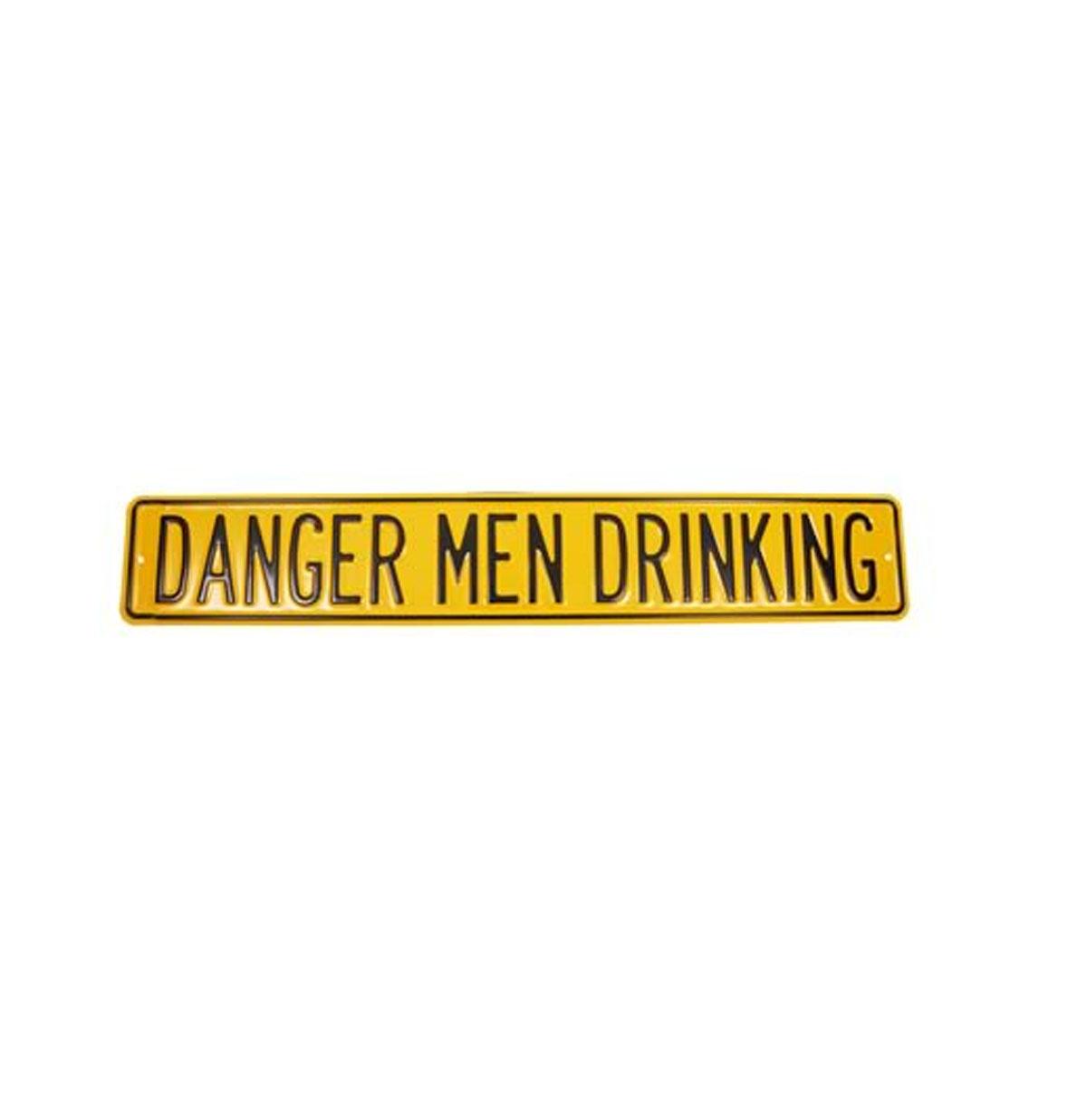 Danger Men Drinking Heavy Duty Metalen Straat Bord