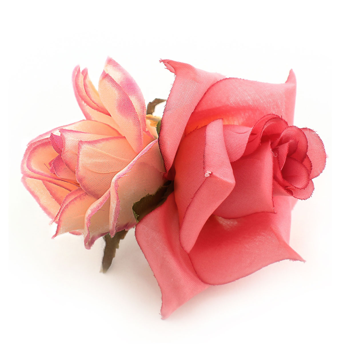 Double Rose Hairclip, Pink