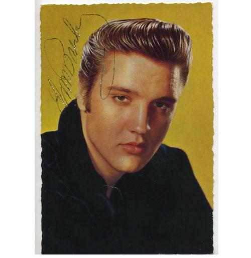 Elvis Presley Handtekening op fotokaart
