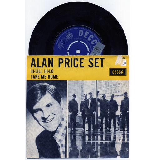Alan Price Set 45 RPM Hi-Lili, Hi-Lo