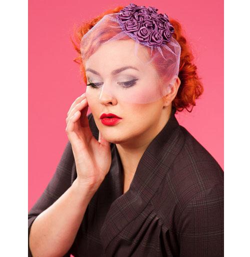 Frederica Day Fascinator, Purple