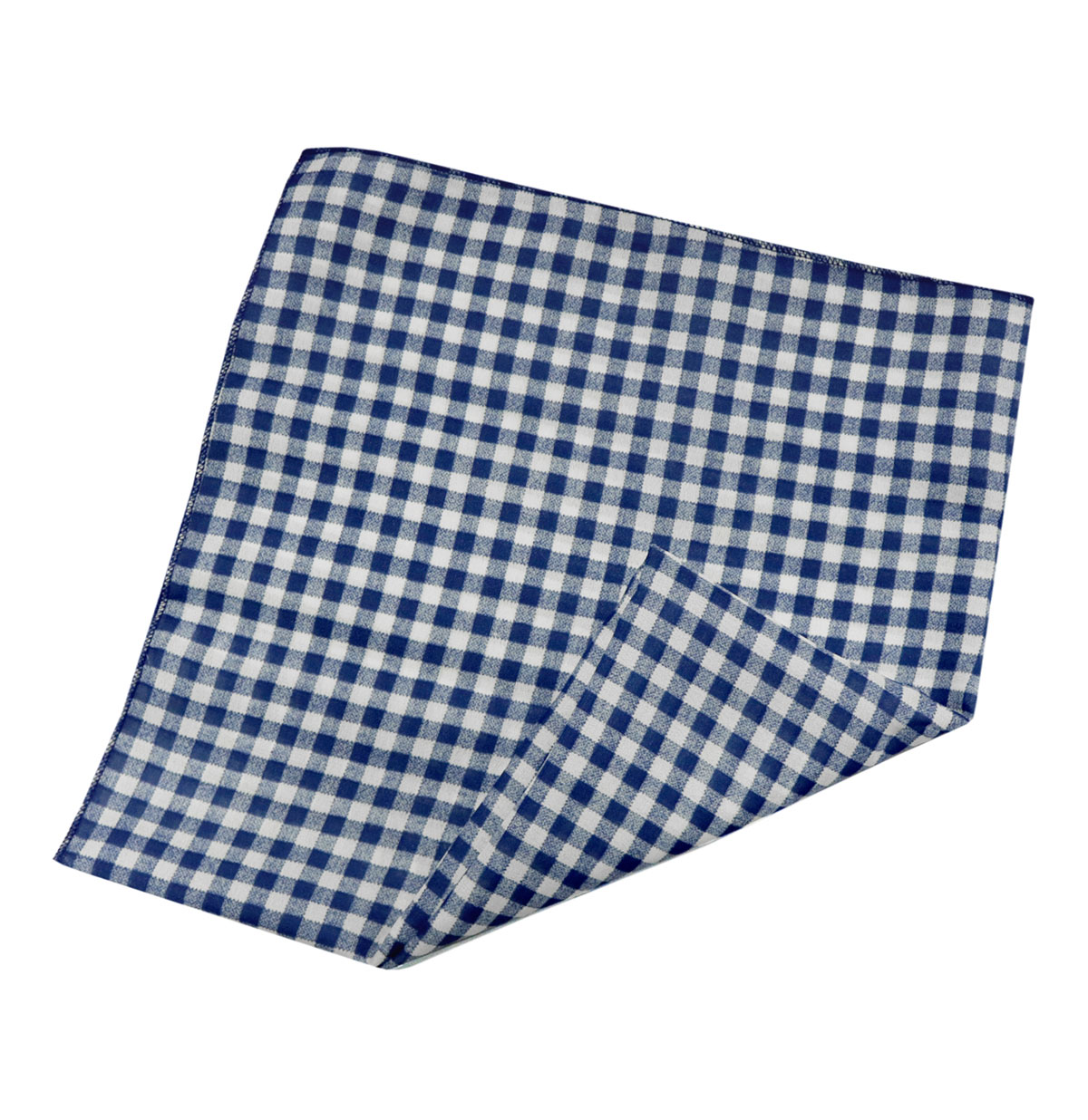 Bandana Gingham Navy/White