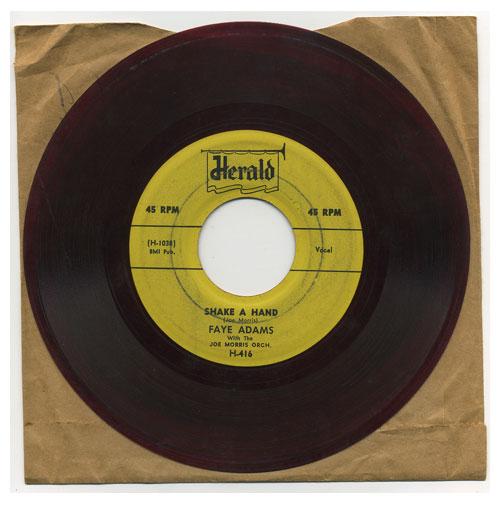 Faye Adams 45 RPM Shake a Hand Rood Vinyl