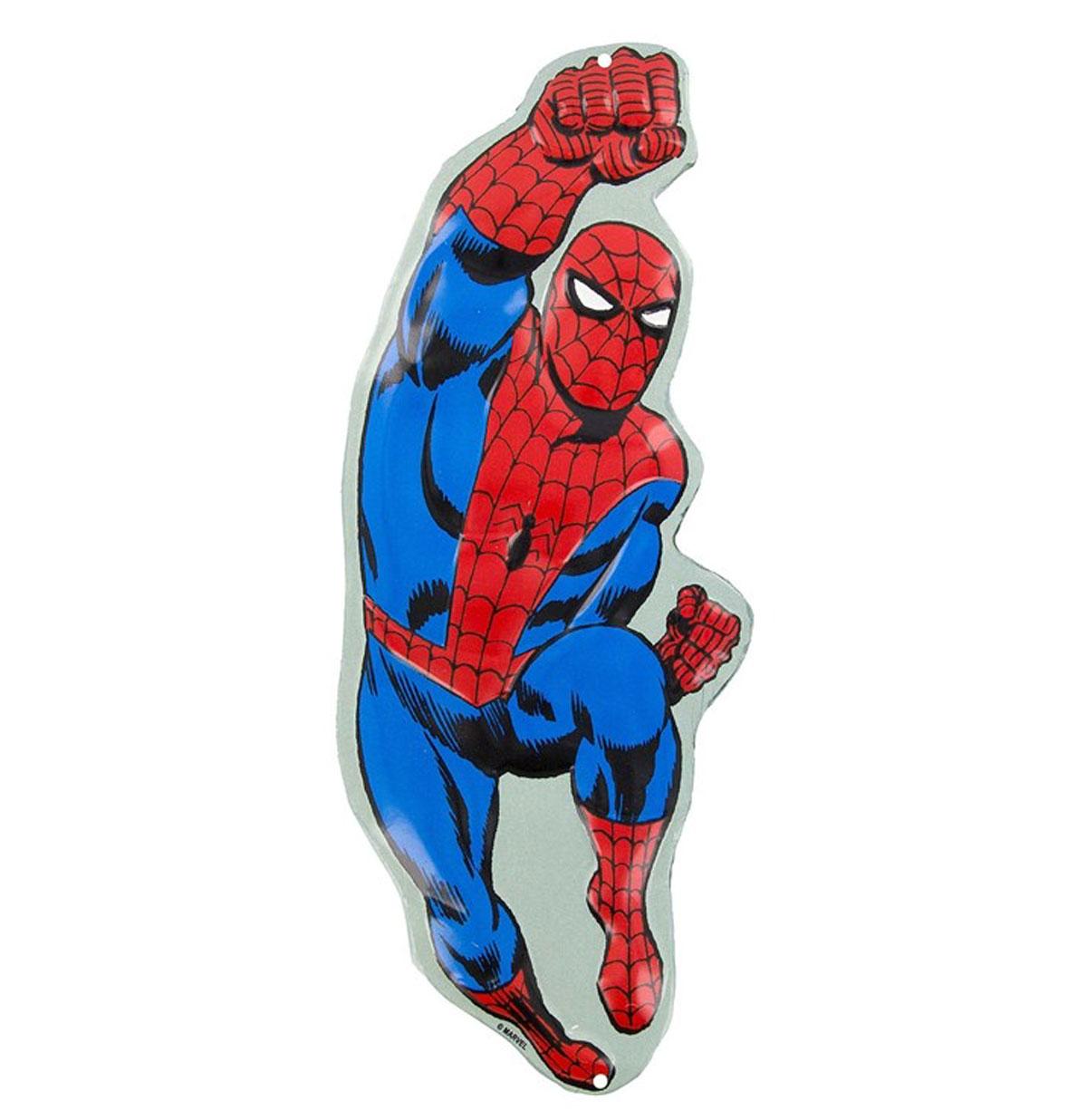 Spider-Man Die Cut Embossed Metalen Bord