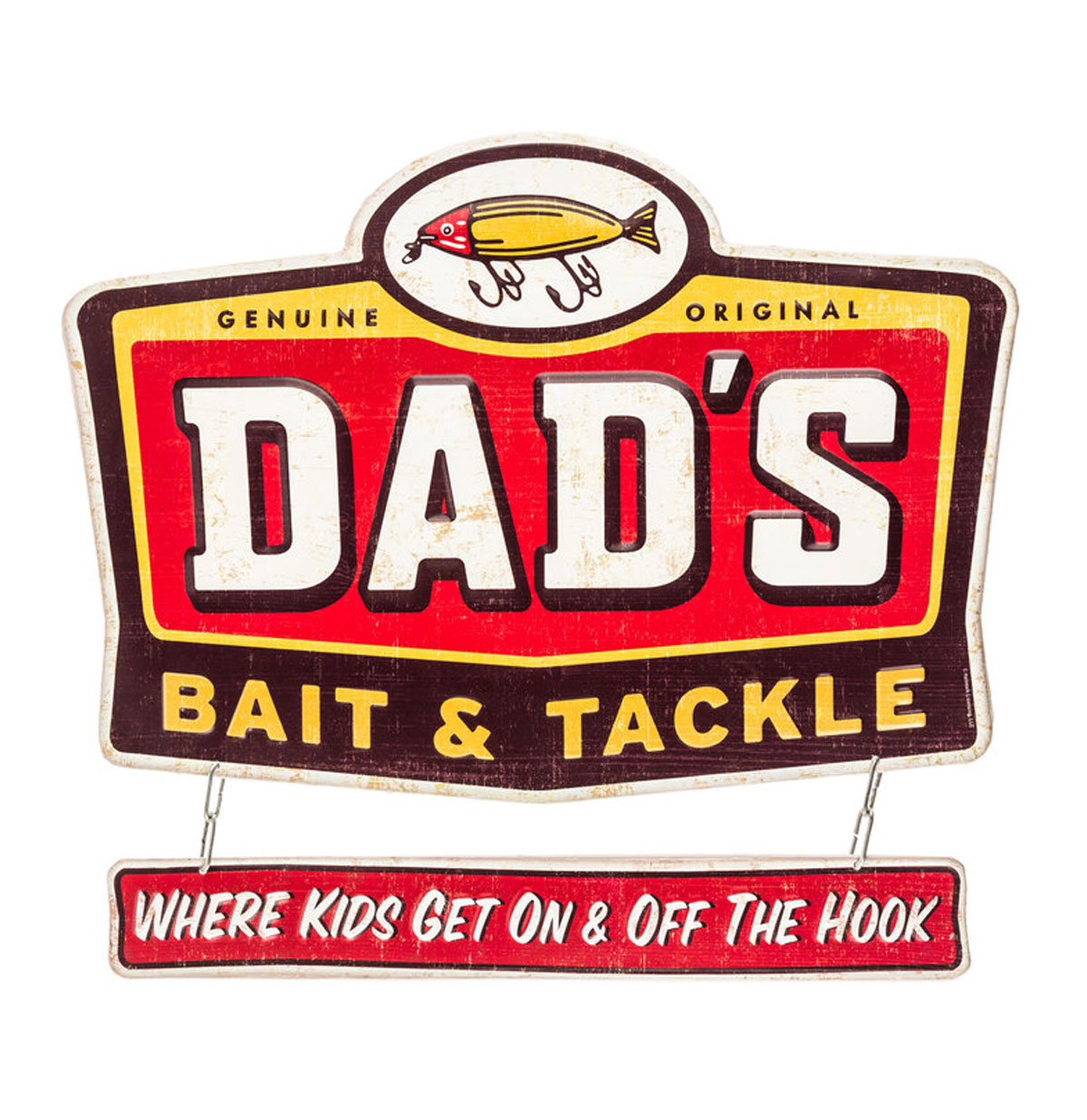 Dad's Bait & Tackle Relief 2-delig Metalen Bord