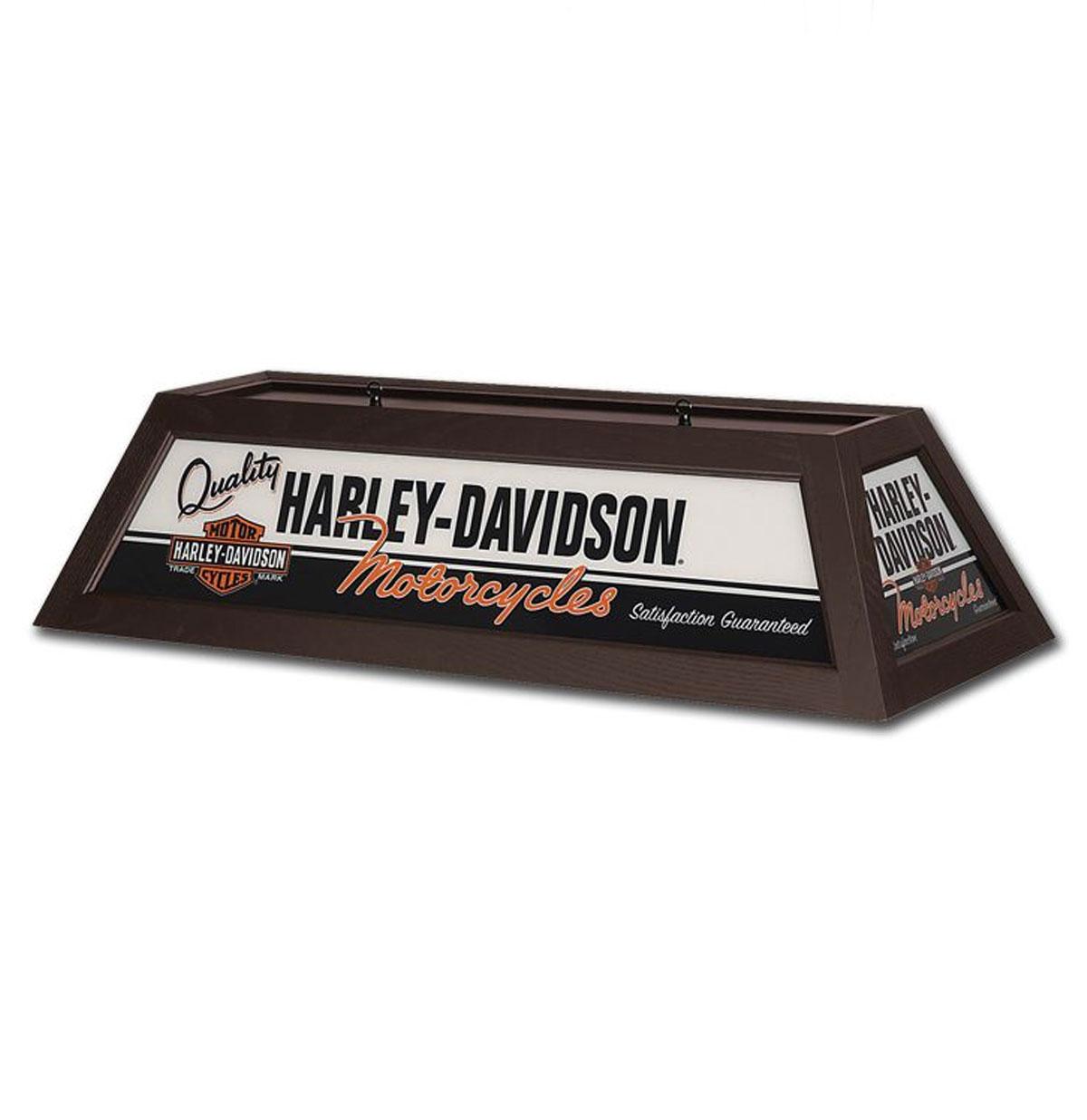 Harley-Davidson Quality Motorcycles Billiard Lamp - Brown Finish