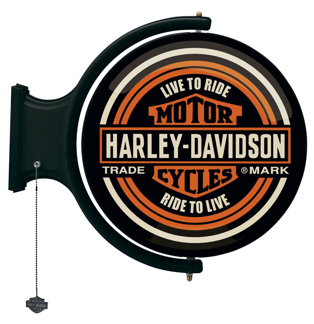 Harley-Davidson Motorcycles Draaiende Bar Lamp