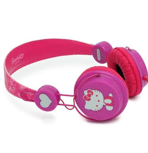 Hello Kitty Coloud Hoofdtelefoon Glitter